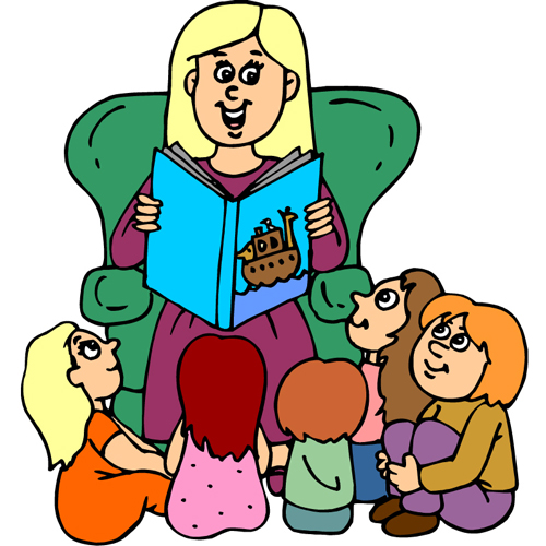 Clip art person with. Story clipart