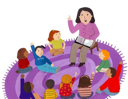 Drop in family story. Storytime clipart area
