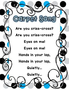 Storytime clipart carpet time. Song poster classroom managment