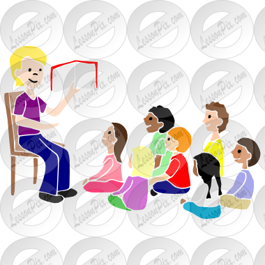 Storytime clipart classroom. Stencil for therapy use