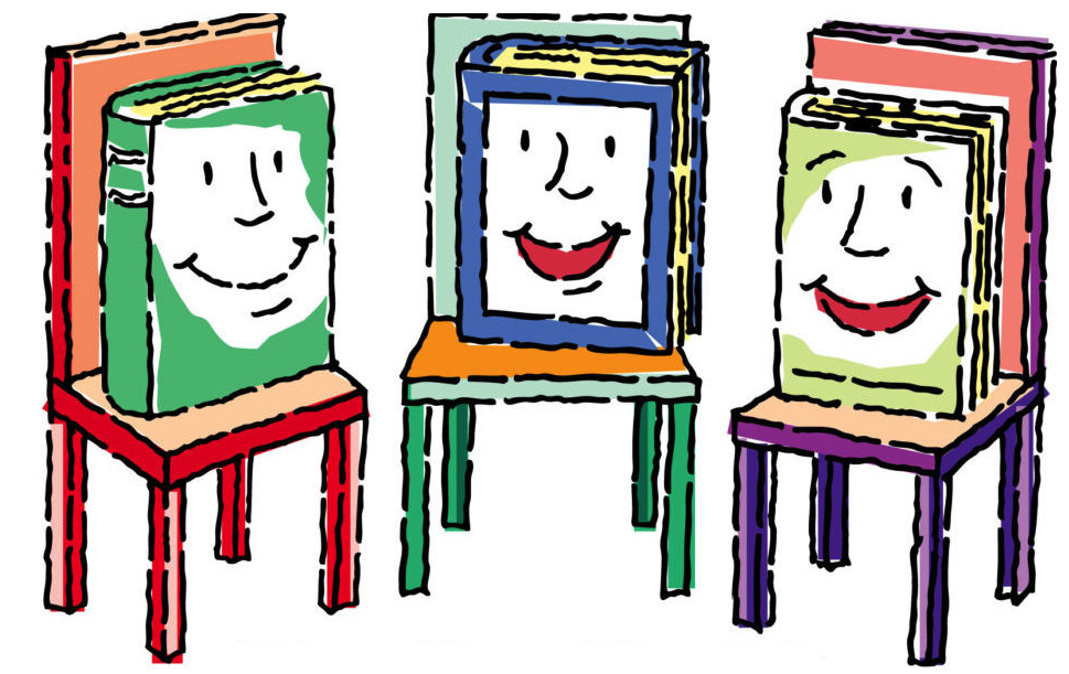 Upton town library . Storytime clipart kids book club