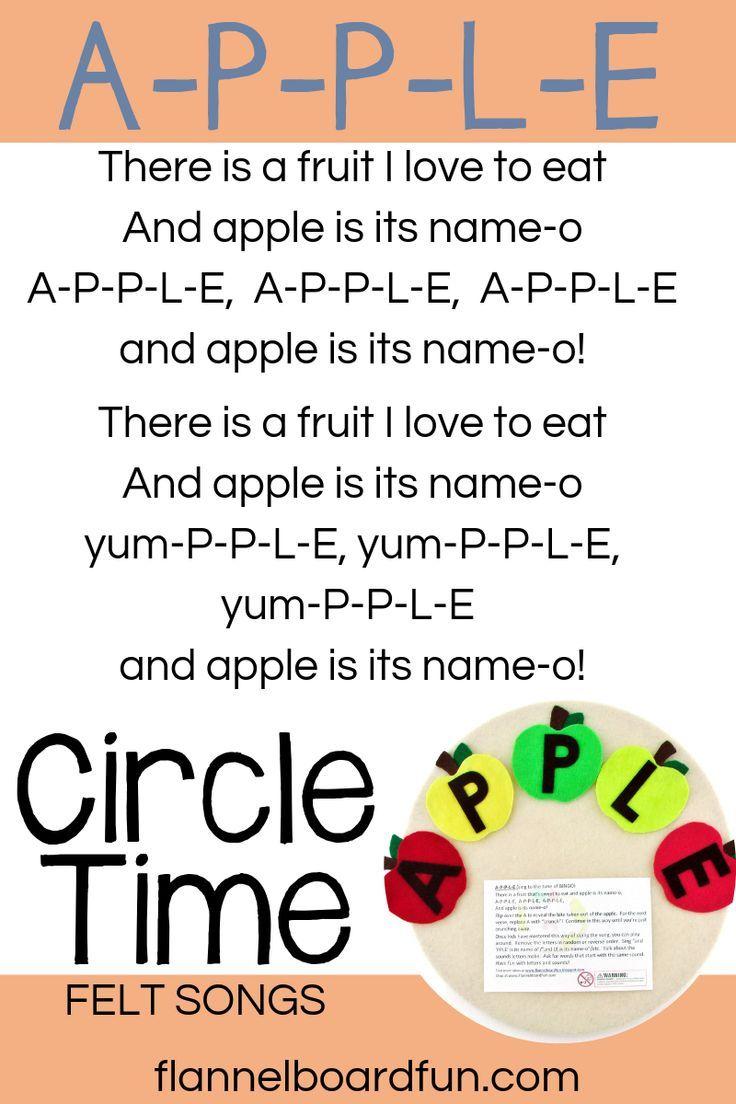 Felt board story apple. Storytime clipart kindergarten teacher