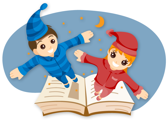 Pajama at the library. Storytime clipart music movement