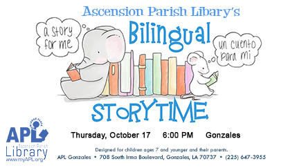Ascension parish library of. Storytime clipart october 2016 calendar