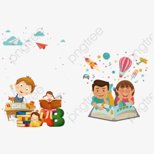 Kids studying png . Storytime clipart shared reading