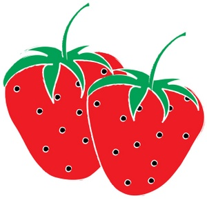 Strawberry clip art free. Berries clipart two