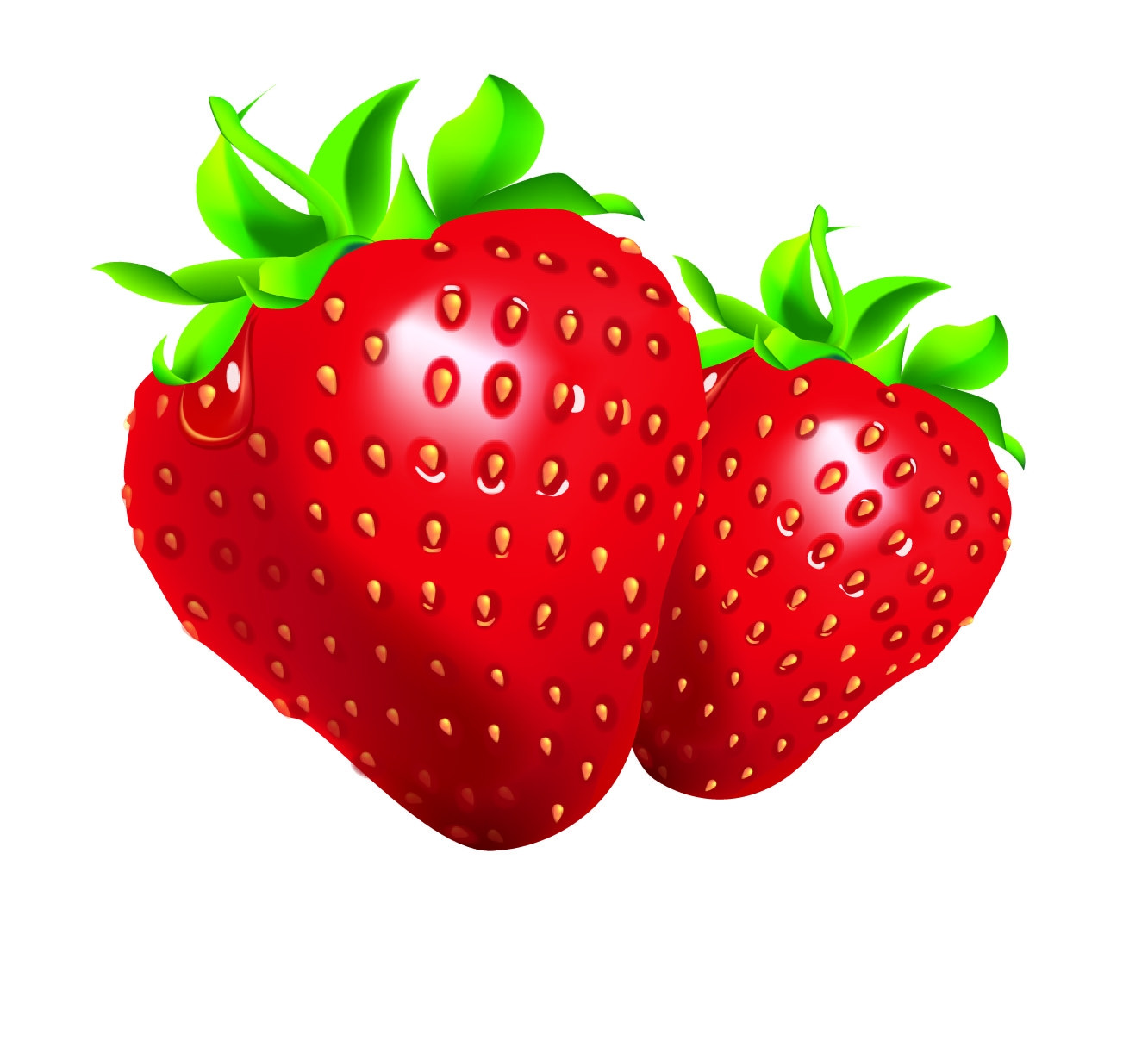 Strawberries clipart. Awesome design digital collection