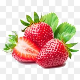 Strawberries clipart 3d png.  d cartoon fruit
