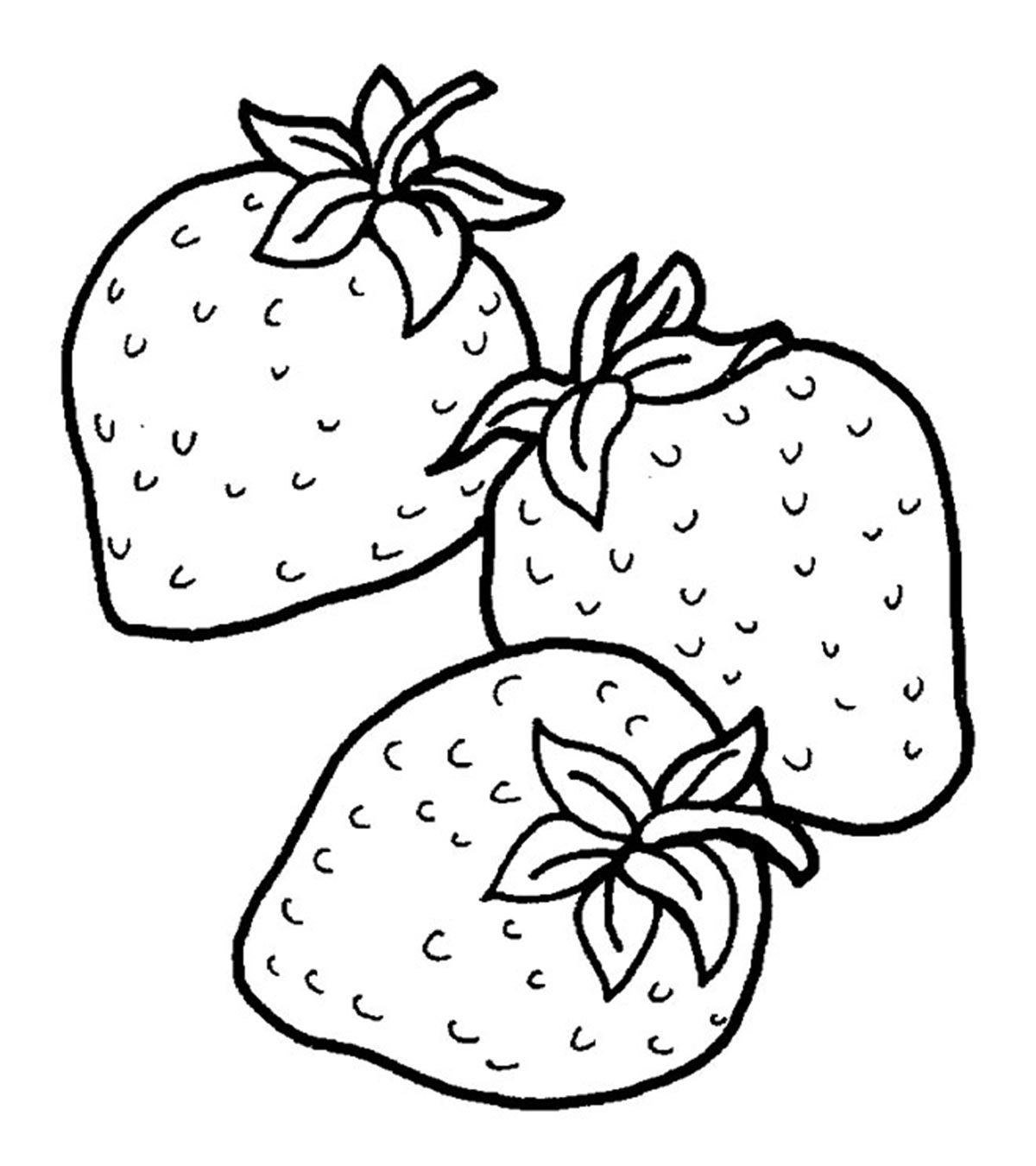 Strawberries clipart 6 strawberry. Top coloring pages for