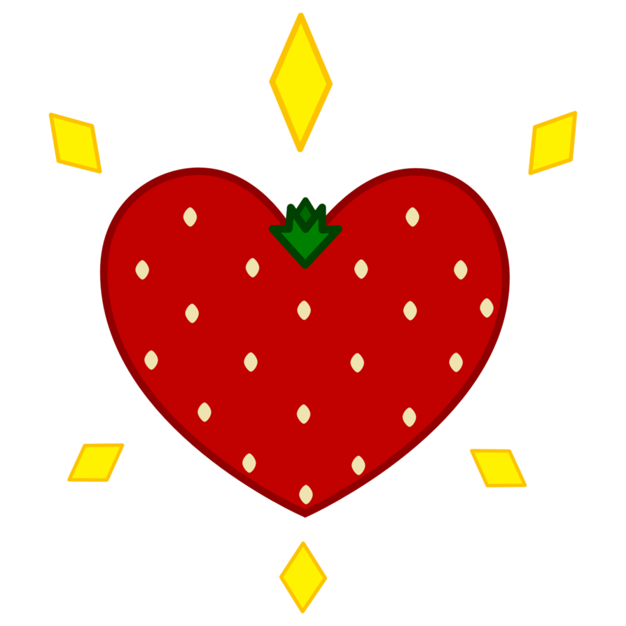 Strawberries clipart 8 object. Strawberry surprise cutie mark
