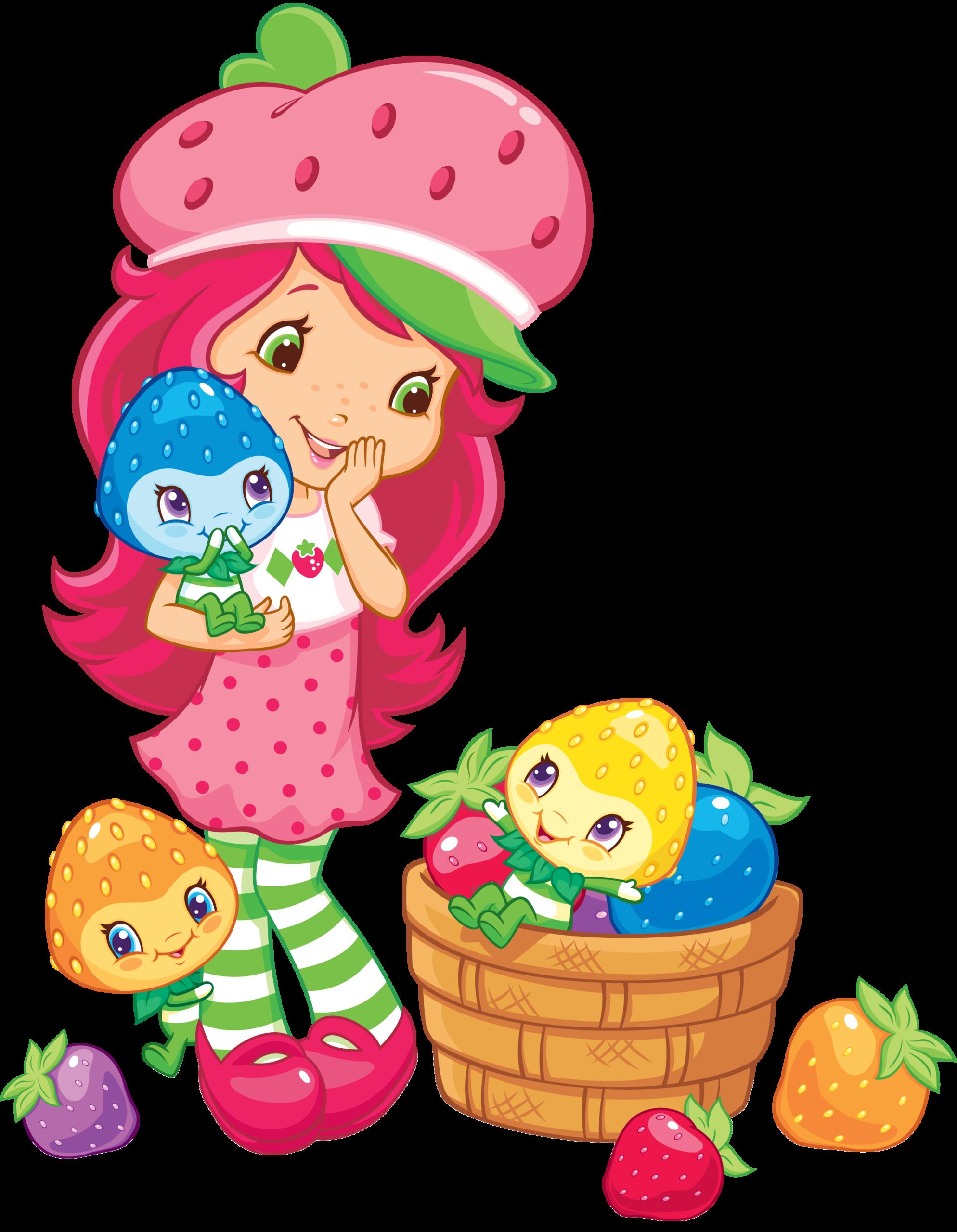 Strawberries clipart animasi. Strawberry shortcake wallpapers group