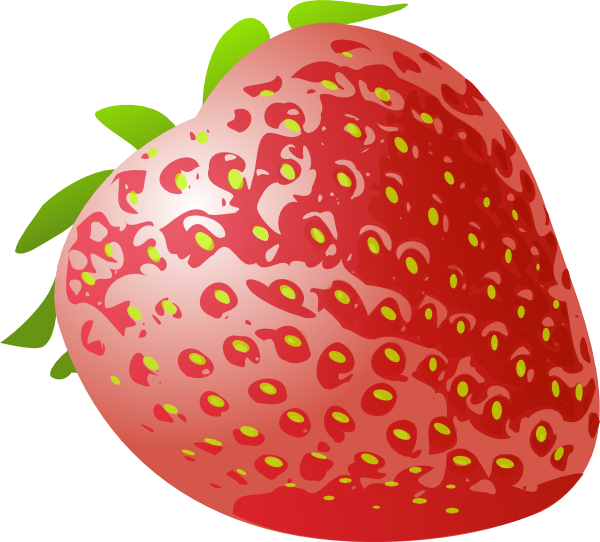 Strawberries clipart buah. Stawberry fresh fruit clip