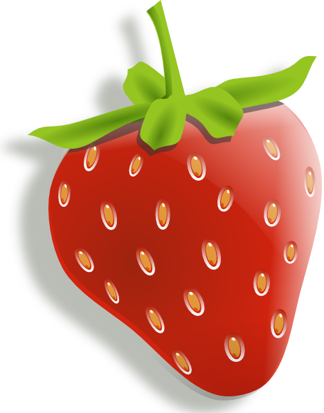 Strawberries clipart buah. Strawberry clip art at