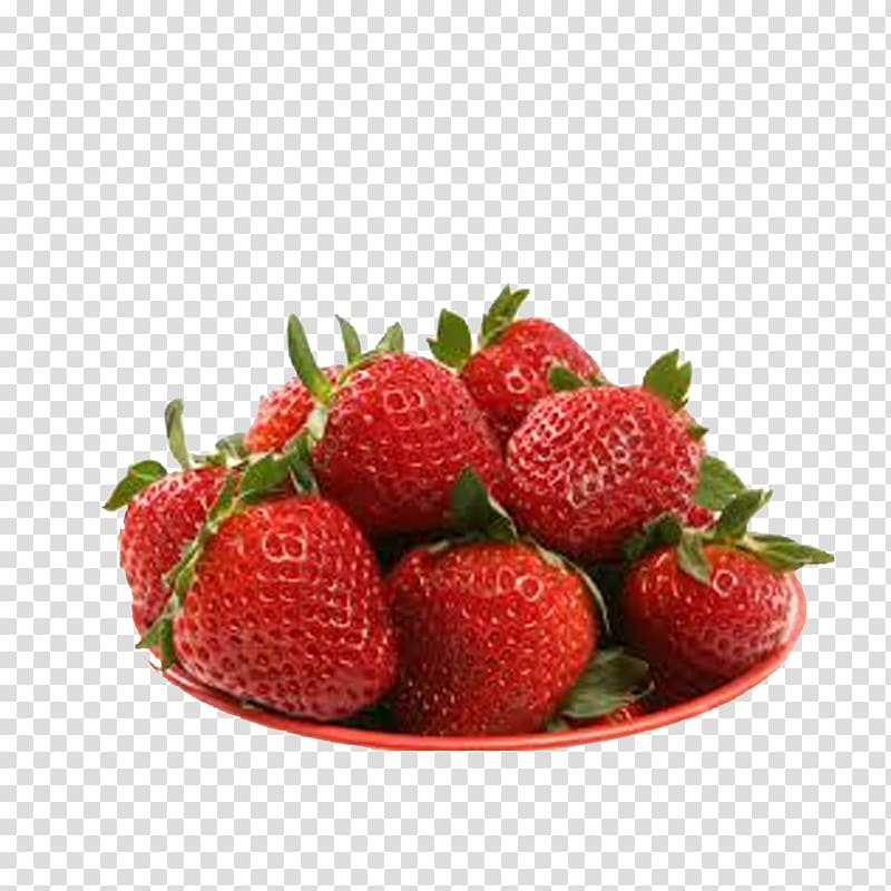 Strawberries clipart bunch. Of in red plate
