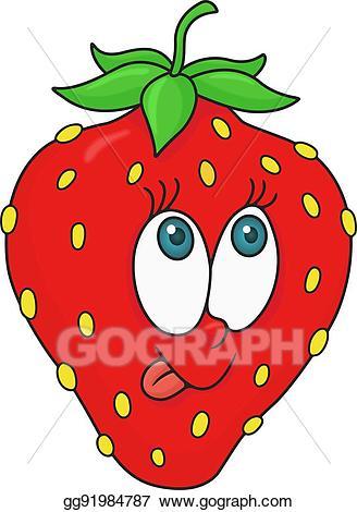 Vector art fresh strawberry. Strawberries clipart cartoon