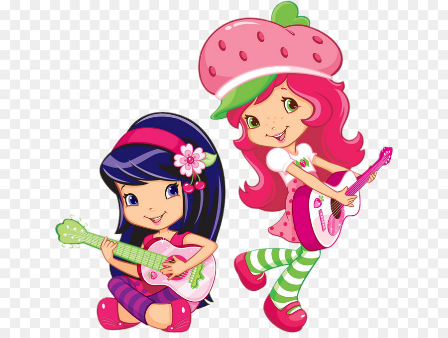 Strawberries clipart character. Strawberry shortcake cartoon drawing