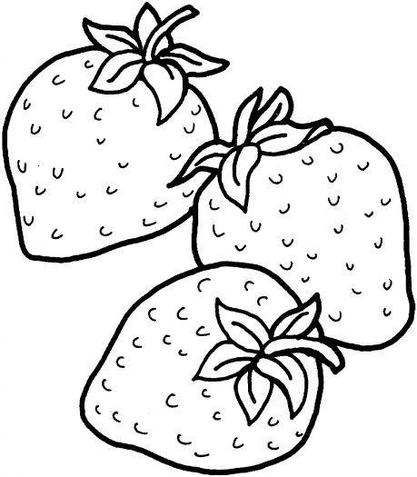 Strawberries clipart coloring page. Pin by bradley pottery