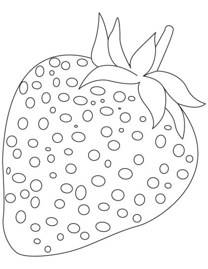 Strawberry download free . Strawberries clipart coloring page