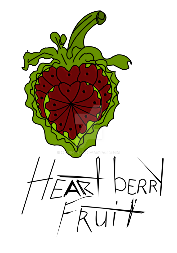 Strawberries clipart colour. Heartberry fruit by ceventhjy