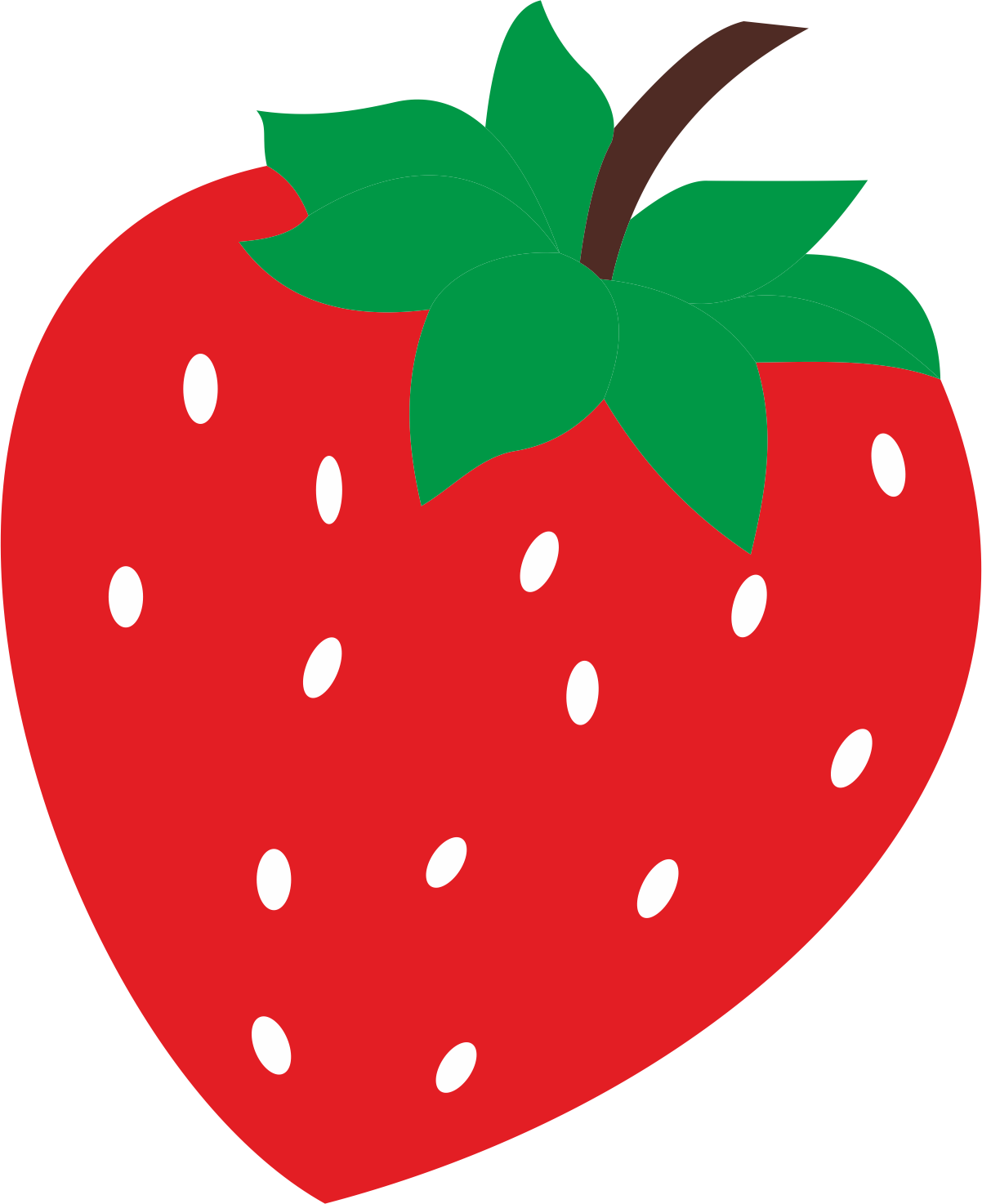 Learning with us colours. Strawberries clipart colour