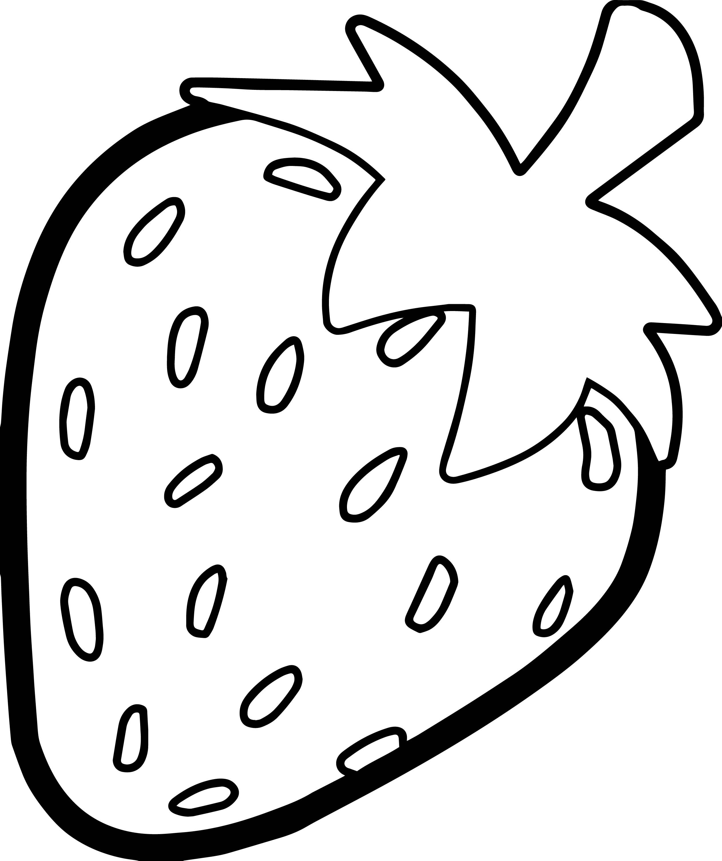 Strawberries clipart colour. Nice strawberry bold outline