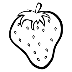 Top strawberry coloring pages. Strawberries clipart colour