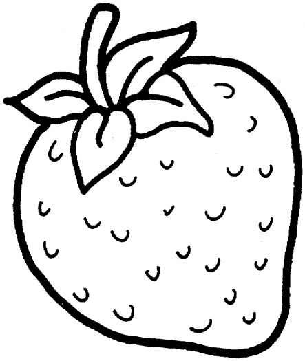 Strawberry printable for coloring. Strawberries clipart colour