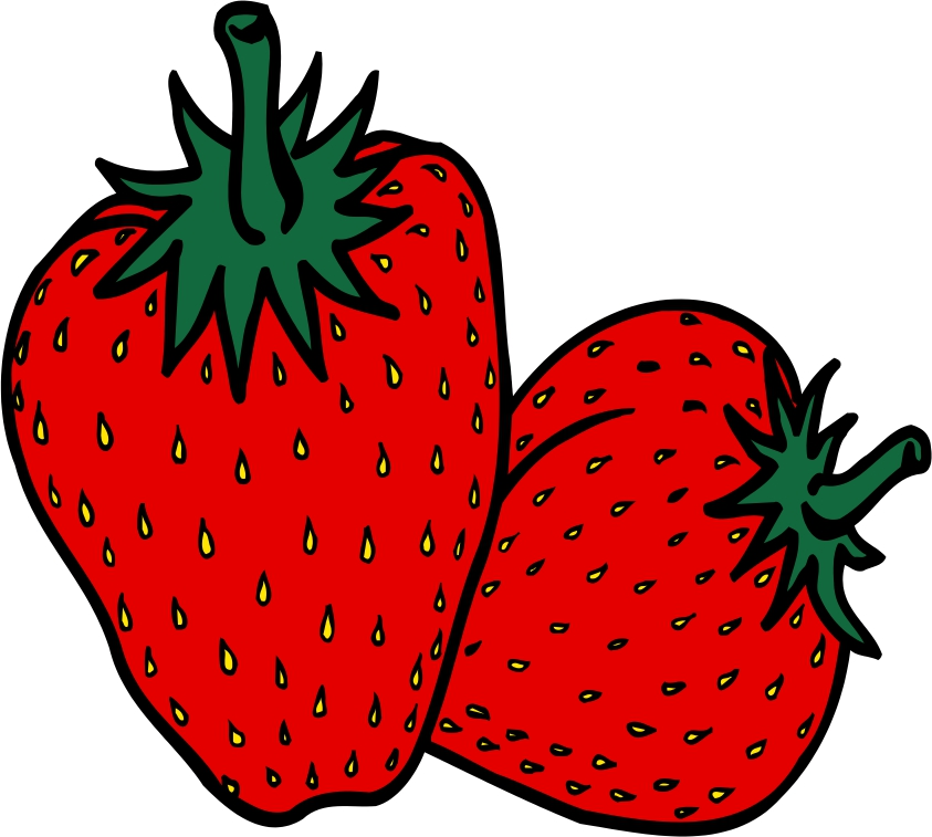Strawberries clipart comic. Free pictures of cartoon
