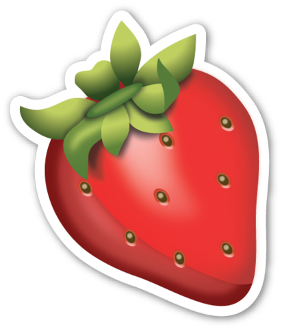 Strawberry printables stickers . Strawberries clipart emoji