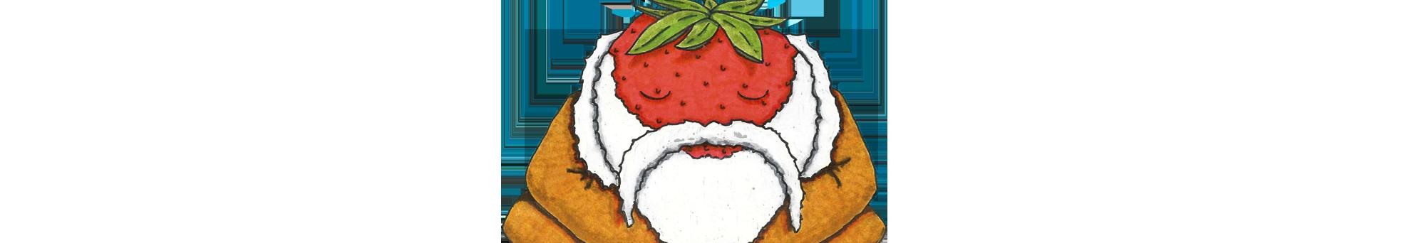 Strawberry sage aqua vitea. Strawberries clipart eye