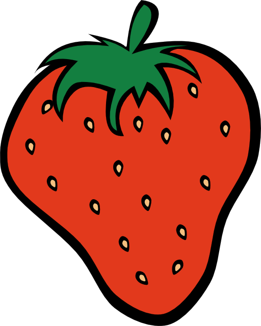 Strawberries clipart face. Simple fruit strawberry i