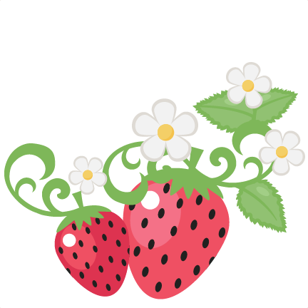 With flowers clip art. Strawberries clipart file