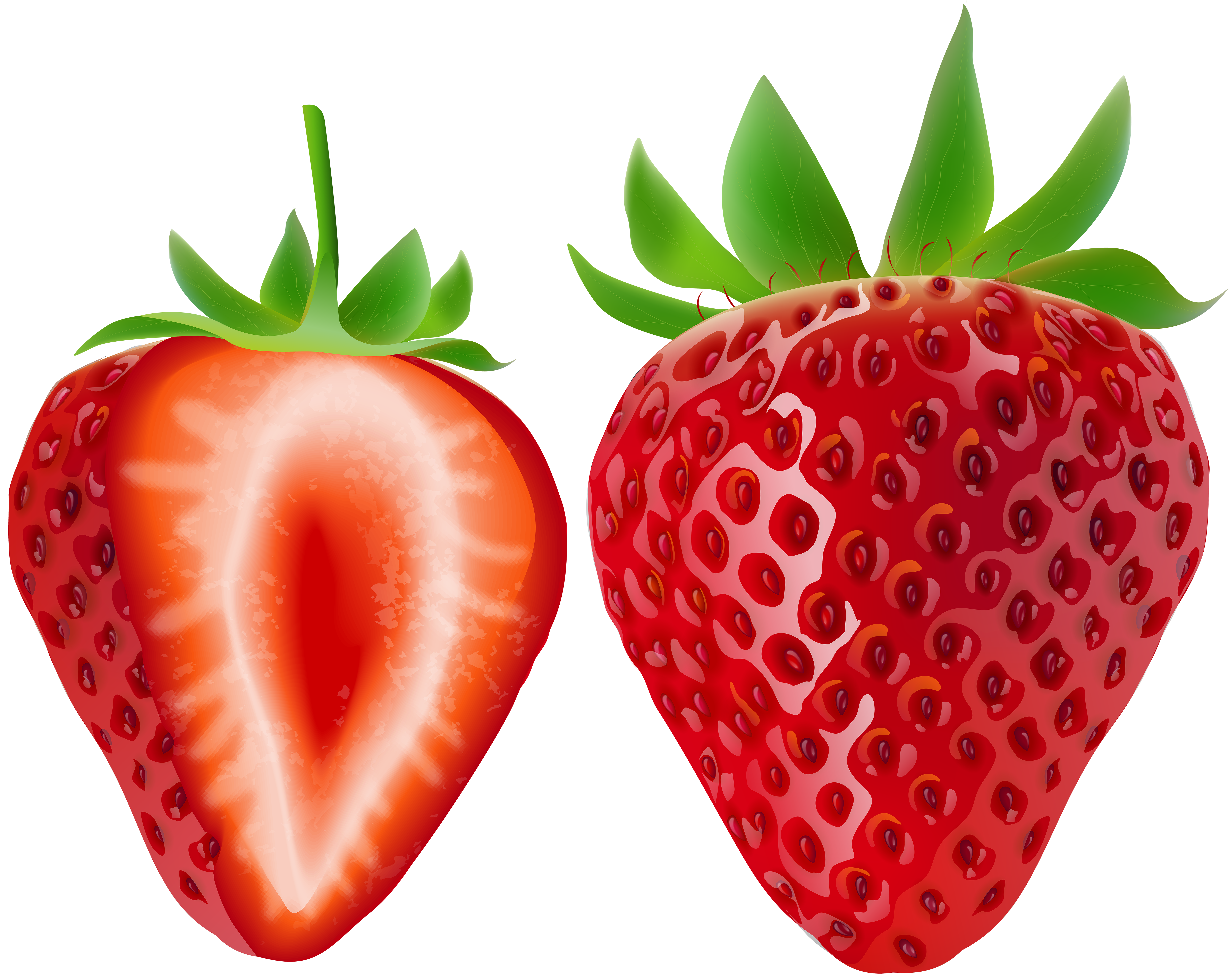 Strawberries clipart half. Strawberry transparent png image