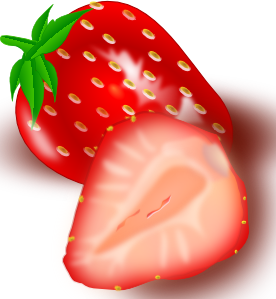 Strawberry clip art at. Strawberries clipart half