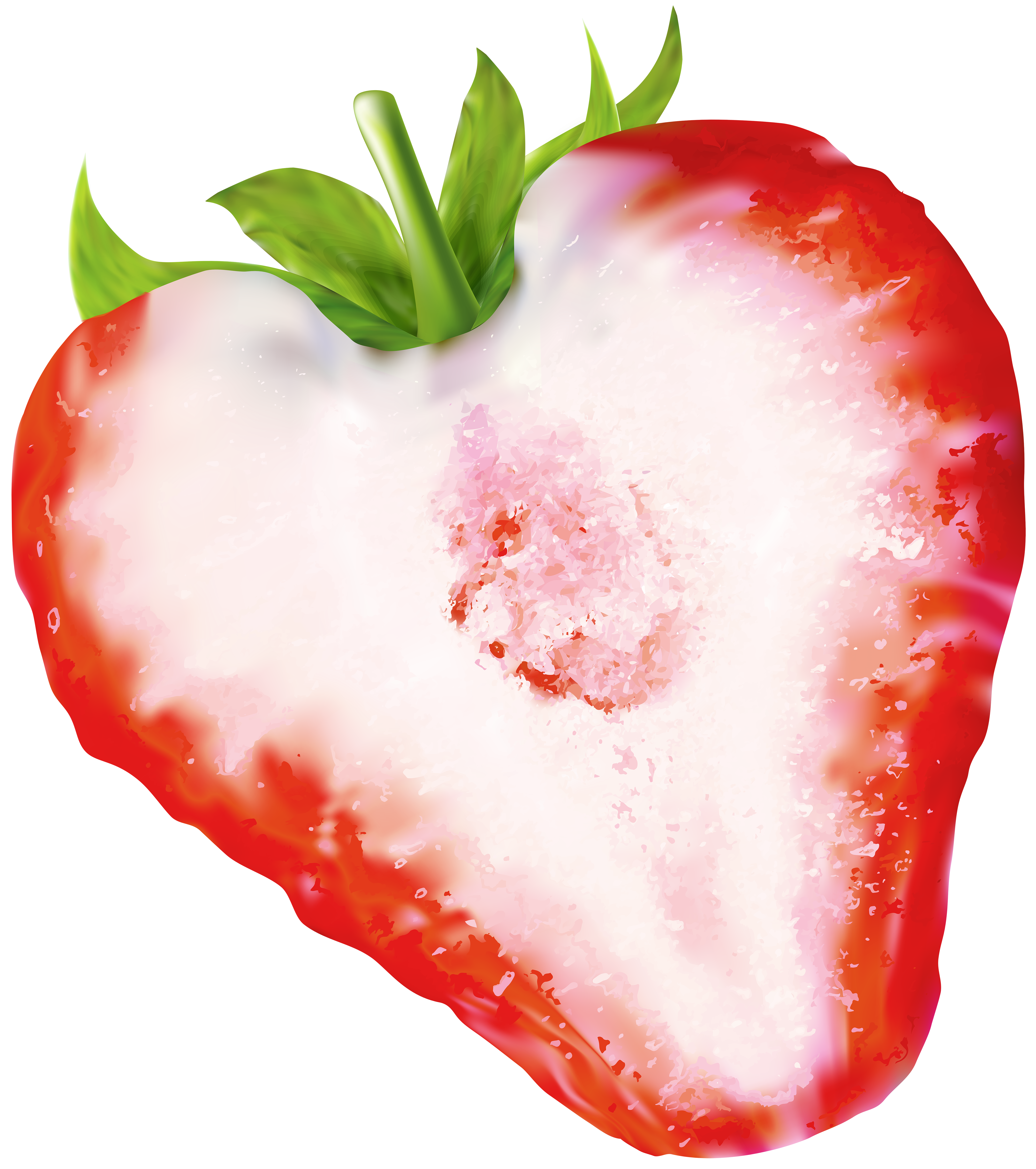 Strawberries clipart half. Strawberry png clip art