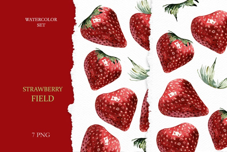 Strawberries clipart juicy. Watercolor red strawberry hand