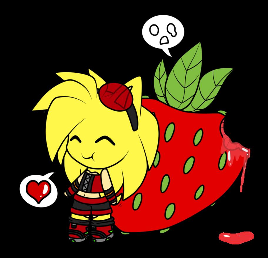 By libbear on deviantart. Strawberries clipart juicy