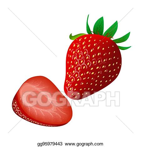 Strawberries clipart juicy. Eps vector ripe strawberry