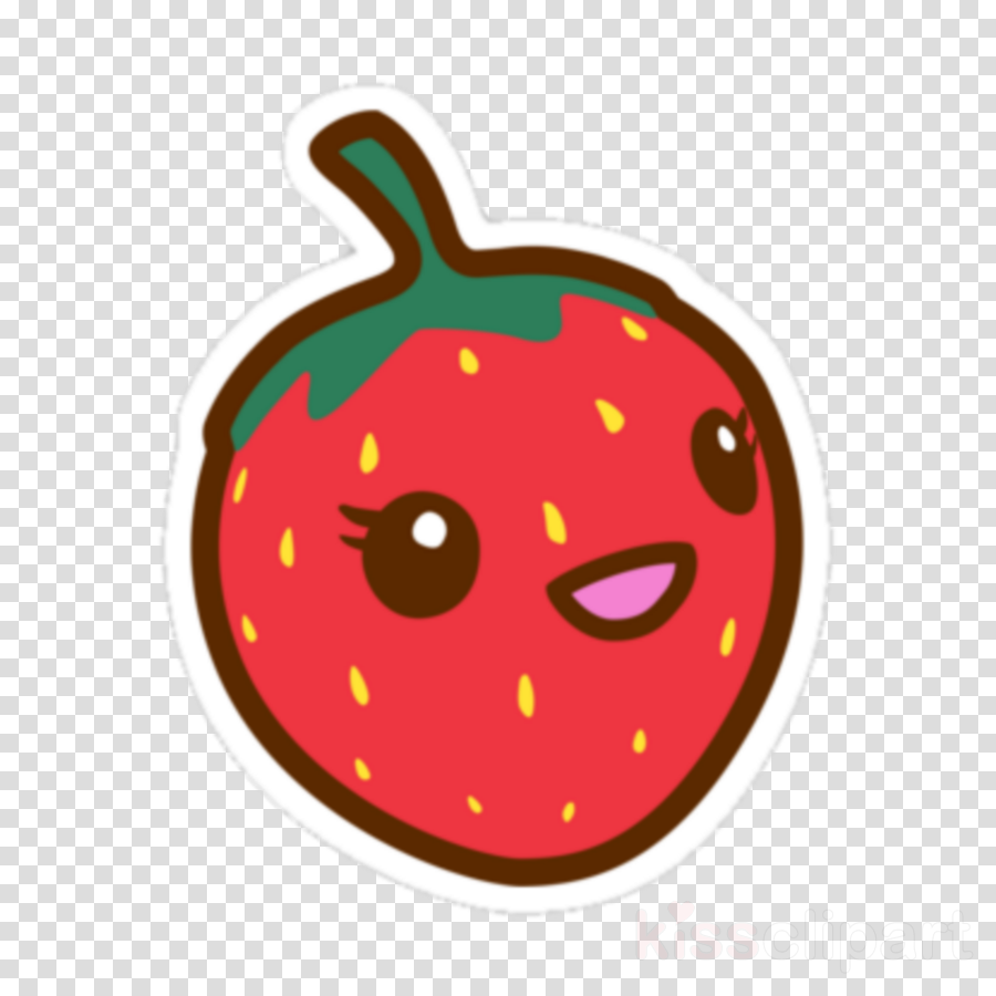 Strawberries clipart kawaii. Strawberry cartoon fruit nut