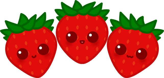 Strawberries clipart kawaii. Cute strawberry drawing free