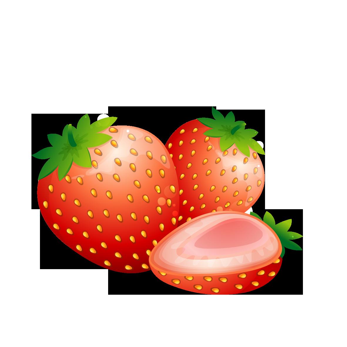 Strawberries clipart lemon fruit. Strawberry aedmaasikas food cartoon