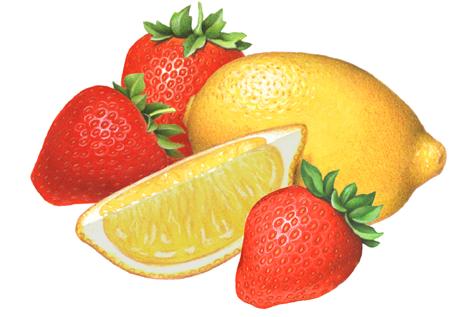 Lemonade strawberry food . Strawberries clipart lemon fruit