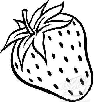 Strawberry drawing pencil and. Strawberries clipart line art