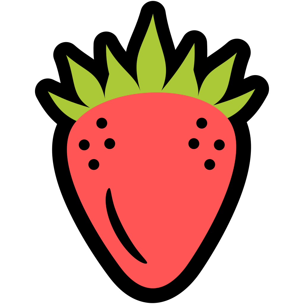 Strawberries clipart object. Strawberry icon fresh fruit