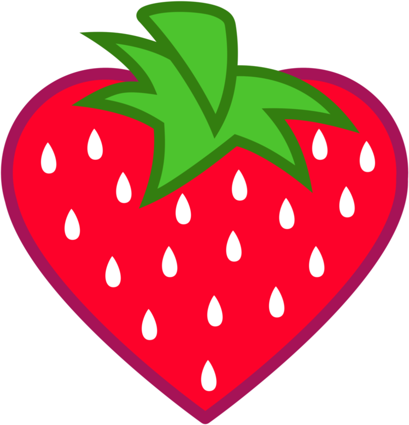 Objects that are heart. Strawberries clipart object