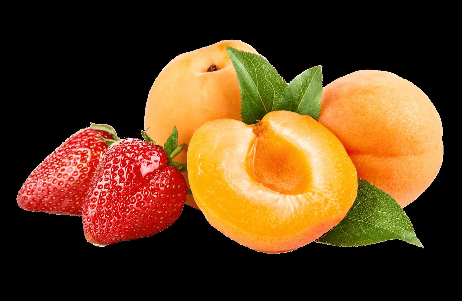 Strawberries clipart orange. Fruit peaches transparent png