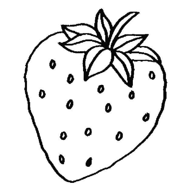 Strawberry black and white. Strawberries clipart outline