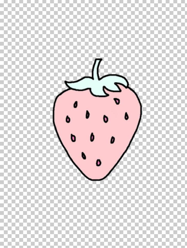 Fruit salad strawberry sundae. Strawberries clipart pastel