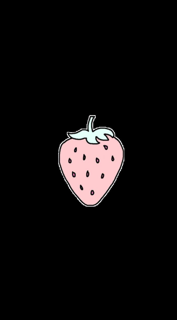 Strawberry aesthetic fruit tumblr. Strawberries clipart pastel