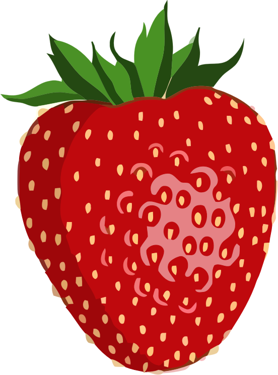 Shiny strawberry medium image. Strawberries clipart pdf